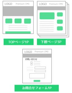 シンプルプラン5ページ ホームページ制作